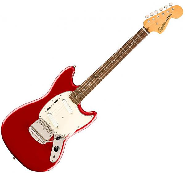 Guitare électrique solid body Squier Classic Vibe '60s Mustang Ltd (LAU) - Candy apple red