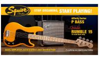 image Precision Bass Affinity with Fender Rumble 15 Set - butterscotch blonde