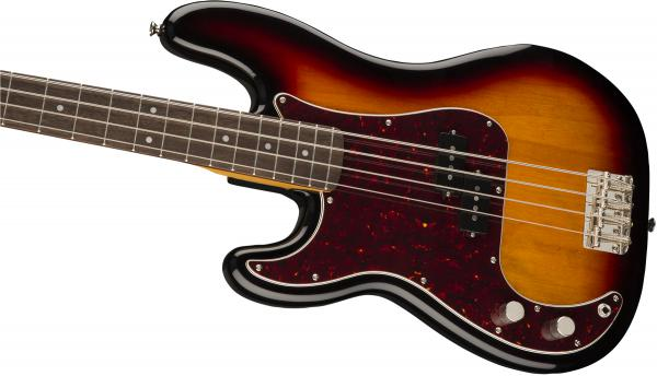 Basse électrique solid body Squier Classic Vibe '60s Precision Bass Gaucher (LAU) - 3-color sunburst