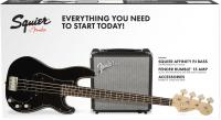 Pack basse electrique Squier Affinity Series Precision Bass PJ Pack 2018 UK - Black