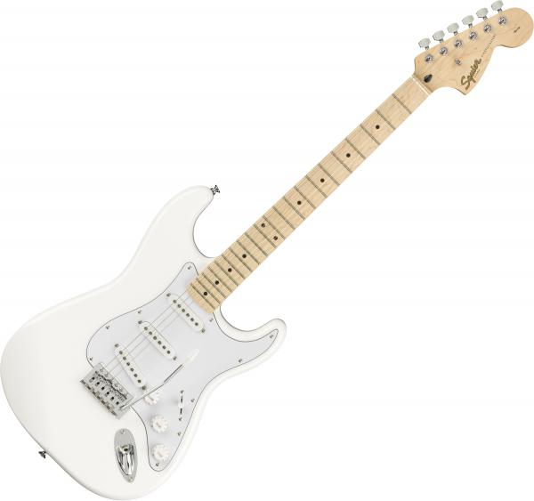 Guitare électrique solid body Squier FSR Stratocaster Affinity Series Ltd - olympic white