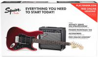 Pack guitare électrique Squier Affinity Series Stratocaster HSS Pack 2018 - Candy apple red