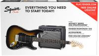 Pack guitare électrique Squier Affinity Series Stratocaster HSS Pack 2018 - Brown sunburst