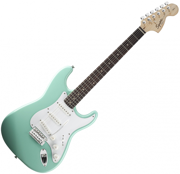 Guitare électrique solid body Squier Affinity Series Stratocaster (LAU) - surf green