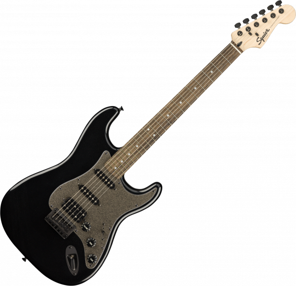 Guitare électrique solid body Squier Bullet Stratocaster HT HSS FSR Ltd - Black metallic