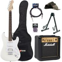 Pack guitare électrique Squier Strat Bullet HT HSS + Marshall MG10G + access X-Tone - Arctic white