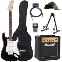 Pack guitare électrique Squier Strat Bullet HT HSS + Marshall MG10G + X-Tone access - Black