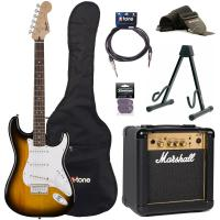 Pack guitare électrique Squier Strat Bullet HT SSS + Marshall MG10G + access X-Tone - Brown sunburst