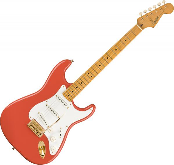 Guitare électrique solid body Squier Classic Vibe '50s Stratocaster FSR Ltd - Fiesta Red With Gold Hardware