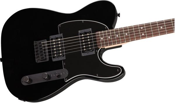 Guitare électrique solid body Squier Affinity Series Telecaster FSR - metallic black with matching headstock