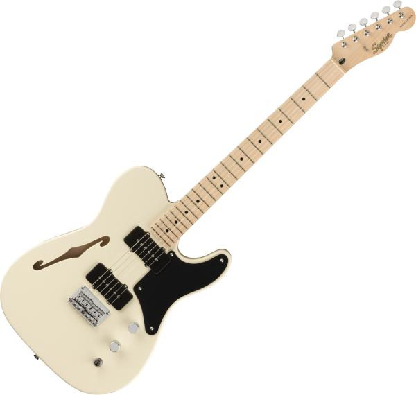 Guitare électrique solid body Squier Paranormal Cabronita Telecaster Thinline - olympic white