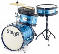 Batterie acoustique junior Stagg Batterie Junior 3/12B + Hardware - 3 fûts - Bleu