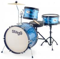 Batterie acoustique junior Stagg Batterie Junior 3/16B + Hardware - 3 fûts - Bleu