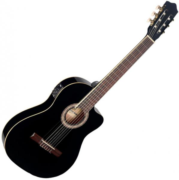 guitare classique format 4 4 stagg c546tce bk black star 39 s music. Black Bedroom Furniture Sets. Home Design Ideas