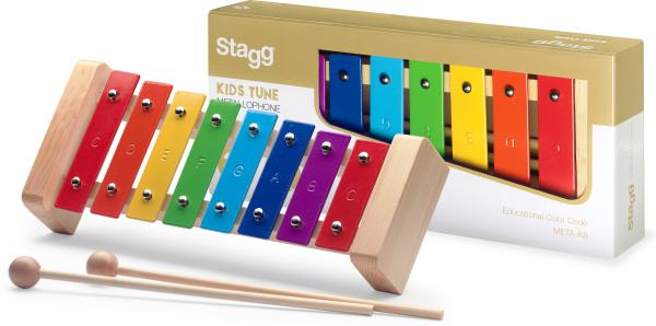 Percussions à frapper Stagg META-K8 RB
