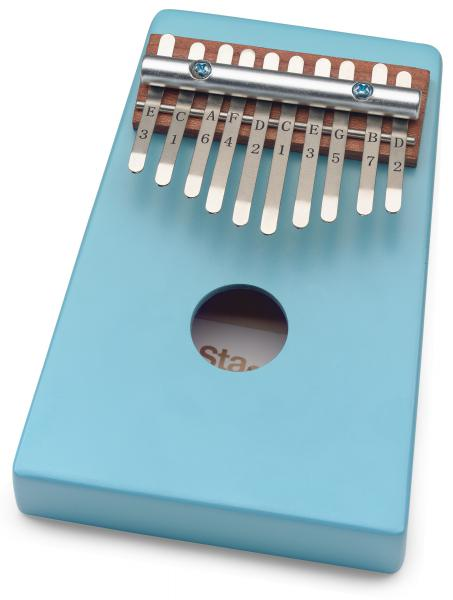 Percussions à frapper Stagg Kalimba enfant 10 notes Bleu