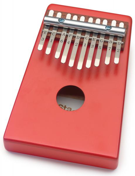 Percussions à frapper Stagg Kalimba enfant 10 notes Rouge