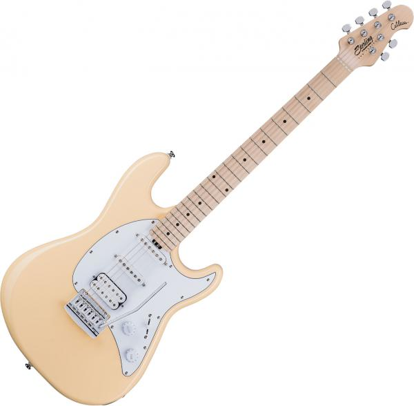 Guitare électrique solid body Sterling by musicman Cutlass CT30HSS - Vintage cream