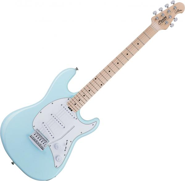 Guitare électrique solid body Sterling by musicman Cutlass CT30SSS - Daphne blue