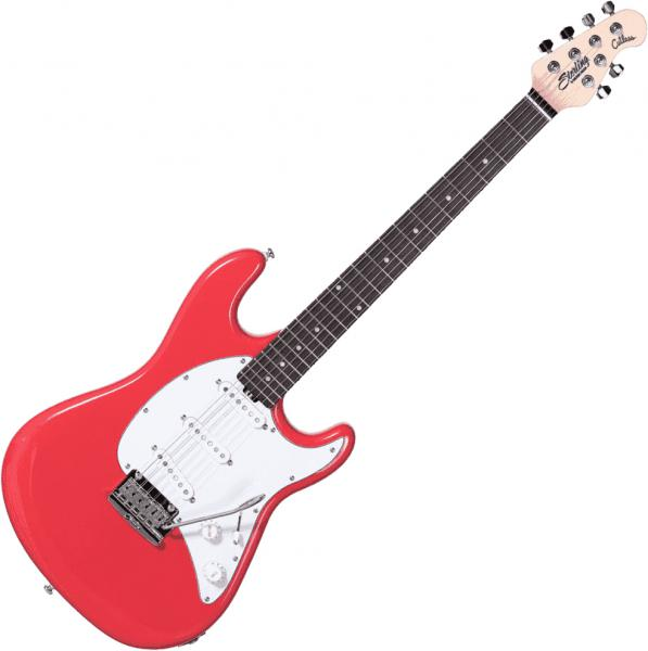 Guitare électrique solid body Sterling by musicman Cutlass CT50SSS - fiesta red