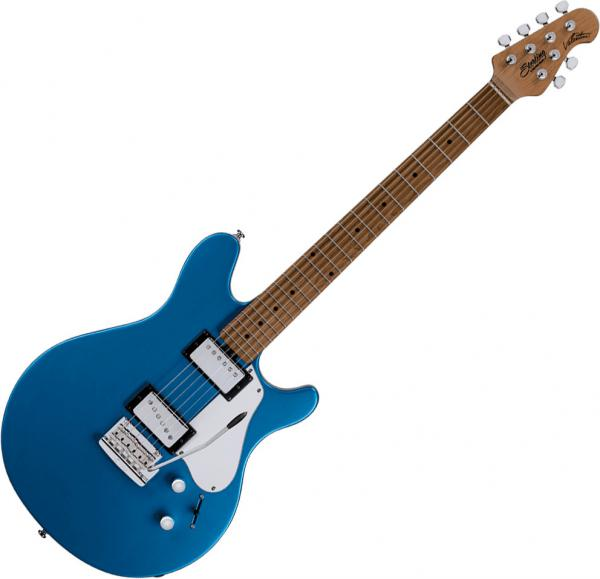Guitare électrique solid body Sterling by musicman James Valentine Tremolo JV60T - Toluca lake blue