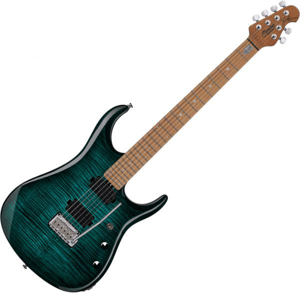 Guitare électrique solid body Sterling by musicman John Petrucci JP150 - Teal
