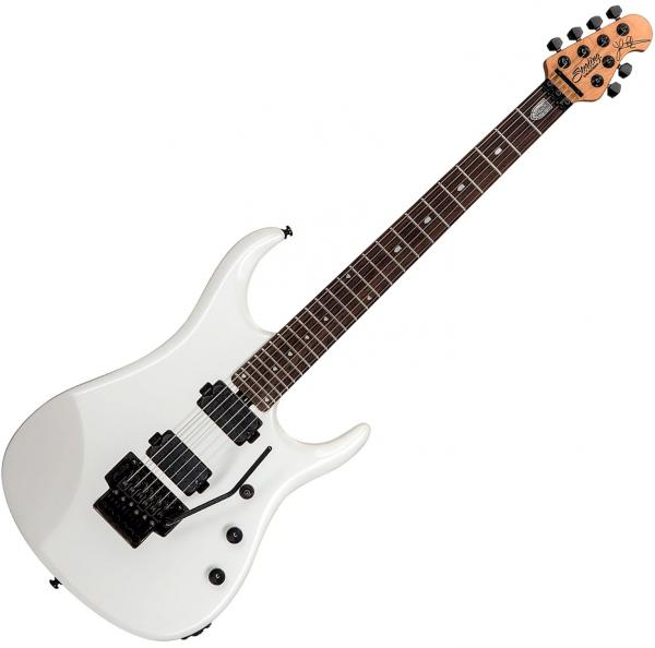 Guitare électrique solid body Sterling by musicman John Petrucci JP160 - Pearl white