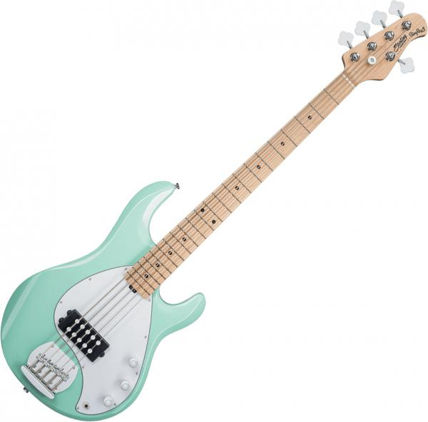 Basse électrique solid body Sterling by musicman SUB Ray5 (JAT) - Mint green