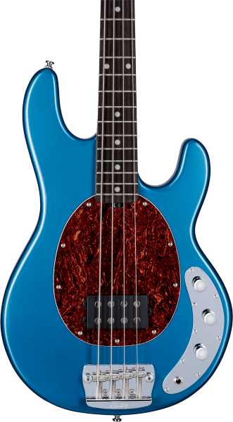 Basse électrique solid body Sterling by musicman Stingray RAY24CA (RW) - toluca lake blue