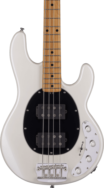 Basse électrique solid body Sterling by musicman Stingray Ray34HH (MN) - pearl white