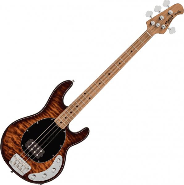 Basse électrique solid body Sterling by musicman Stingray Ray34QM (MN) - Island burst