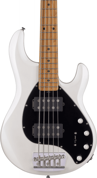 Basse électrique solid body Sterling by musicman Stingray Ray35HH (MN) - pearl white