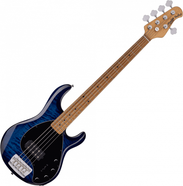 Basse électrique solid body Sterling by musicman Stingray5 Ray35PB (MN) - Neptune blue