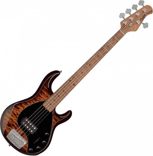 Basse électrique solid body Sterling by musicman Stingray5 Ray35PB (MN) - Island burst