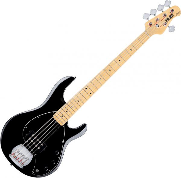 Basse électrique solid body Sterling by musicman SUB Ray5 (MN) - Black