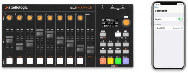 Interface audio Studiologic, SL Mixface, application mobile, studio