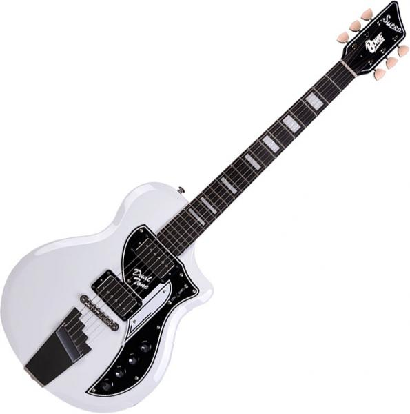 Guitare électrique solid body Supro David Bowie 1961 Dual Tone - White