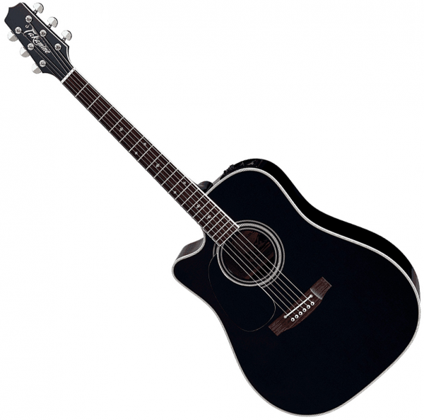 Guitare folk & electro Takamine Legacy Japan EF341SCLH Gaucher - Black