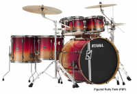 Batterie acoustique standard Tama Superstar Hyper-Drive Limited Edition ML52HLZBSG-FBF - Figured ruby fade