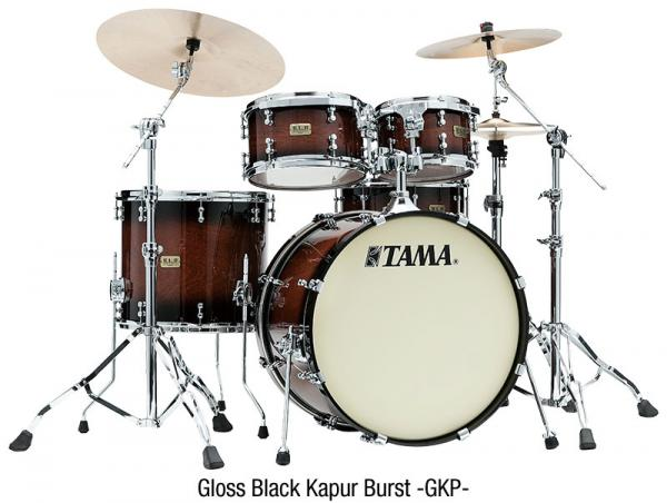 Batterie acoustique fusion Tama S.L.P. Dynamic Kapur Kit - 4 fûts - gloss black kapur burst