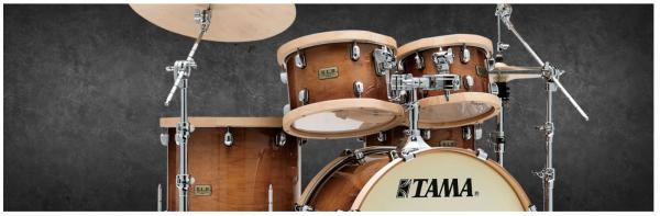 Batterie acoustique rock Tama S.L.P. Drum Kit Studio Maple LMP52RTLS GSE - 5 fûts - gloss sienna