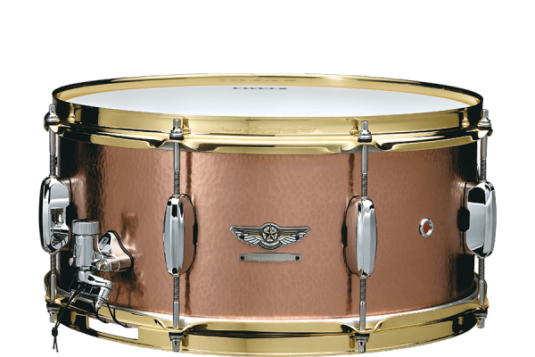 Caisse claire Tama STAR RESERVE HAND HAMMERED BRASS 5.5X14 SNARE DRUM - Gold