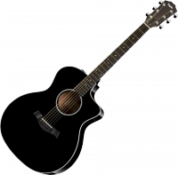 Guitare folk Taylor 214CE DLX Grand Auditorium - Black