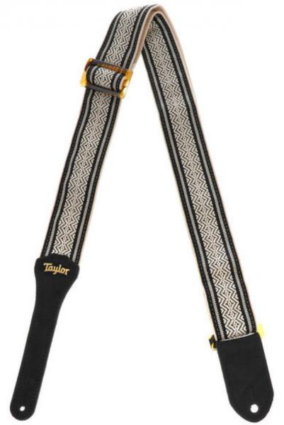 Sangle courroie Taylor Academy Guitar Strap - White/Black
