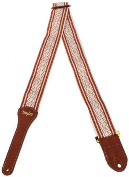 Sangle courroie Taylor Academy Guitar Strap - White/Brown