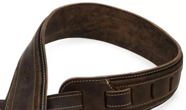 Courroie sangle Taylor Element Leather Guitar Strap 2.5 inch - Dark Brown