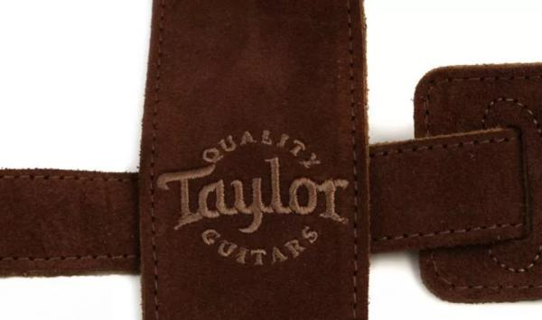 Sangle courroie Taylor Embroidered Suede Guitar Strap 2.5 inch - Chocolate