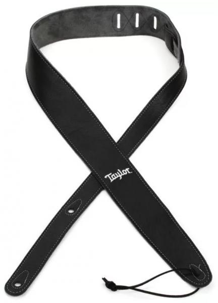 Sangle courroie Taylor Leather Guitar Strap, Suede Back, 2.5 inch - Black