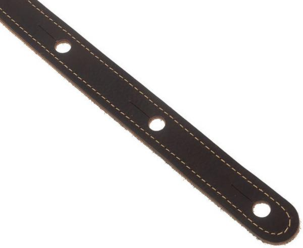 Sangle courroie Taylor Leather Guitar Strap, Suede Back, 2.5 inch - Chocolate Brown