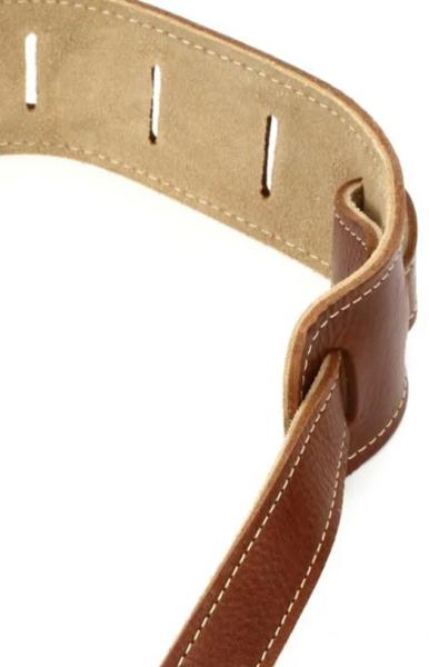 Sangle courroie Taylor Leather Guitar Strap, Suede Back, 2.5 inch - Medium Brown